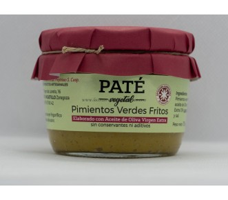Paté Pimiento Verde Frito apto para vegetarianos